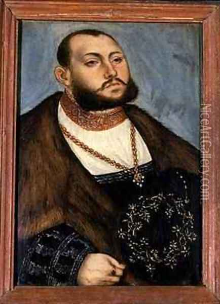 John Frederick the Magnanimous Elector of Saxony Oil Painting - Lucas The Elder Cranach