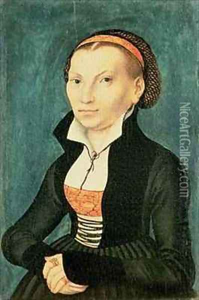 Katharina von Bora future wife of Martin Luther Oil Painting - Lucas The Elder Cranach