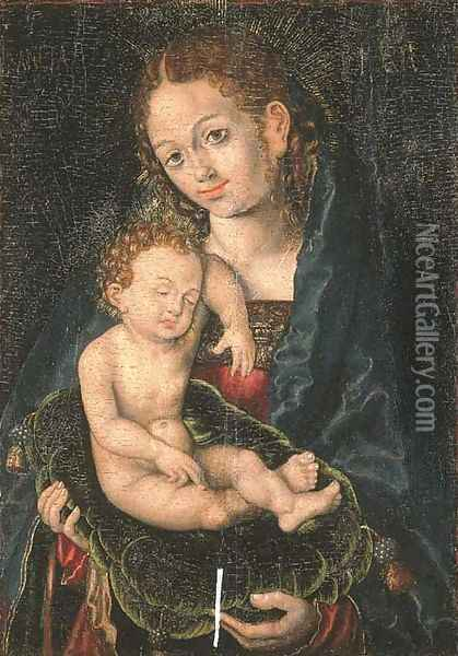 The Virgin and Child 2 Oil Painting - Lucas The Elder Cranach