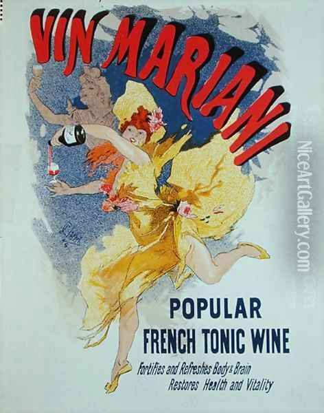 Poster advertising 'Mariani Wine', a popular French tonic wine, 1894 Oil Painting - Jules Cheret