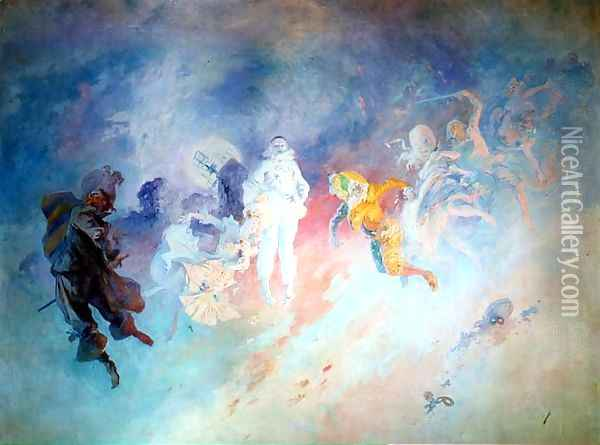 Pantomime, from the Salon Cheret Oil Painting - Jules Cheret