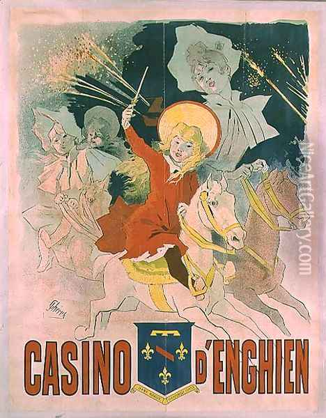 Poster advertising the Casino d'Enghien, 1898 Oil Painting - Jules Cheret