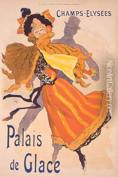 Poster advertising the Palais de Glace, Champs Elysees Oil Painting - Jules Cheret
