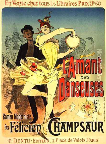 Reproduction of a poster advertising 'The Lover of Dancers', 1888 Oil Painting - Jules Cheret