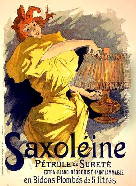 Reproduction of a poster advertising 'Saxoleine', safe parrafin oil, 1896 Oil Painting - Jules Cheret