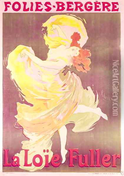 Poster advertising Loie Fuller (1862-1928) at the Folies Bergeres, 1897 Oil Painting - Jules Cheret