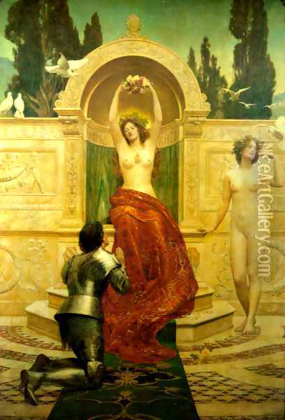 In the Venusburg (Tannhauser), 1901 Oil Painting - John Maler Collier