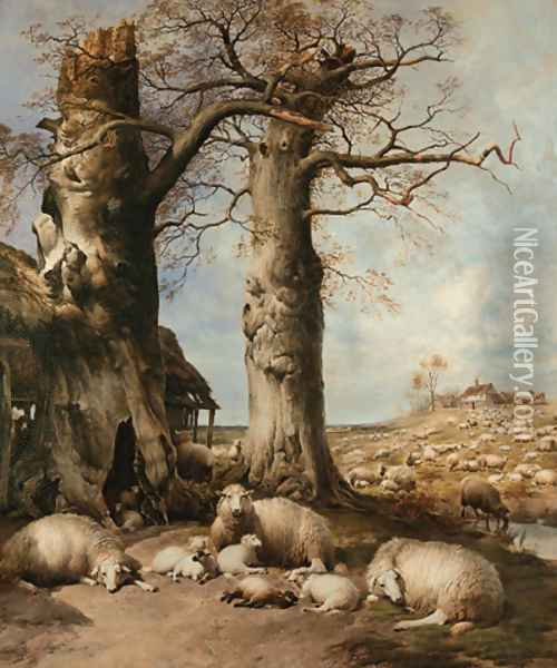 The Flock Masters Hope The Spring Time of the Year Oil Painting - Thomas Sidney Cooper