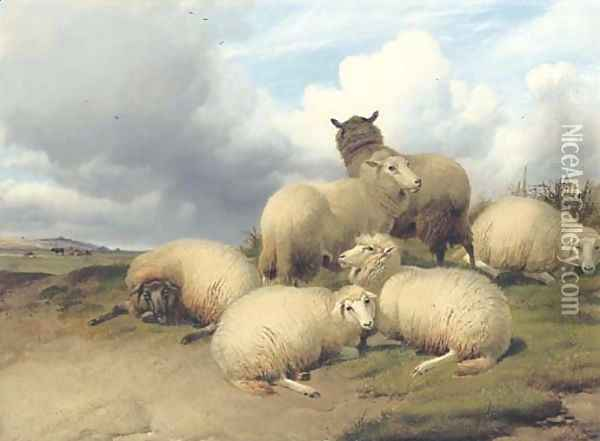 Before the Storm Oil Painting - Thomas Sidney Cooper