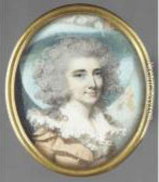 Portrait Of A Lady Oil Painting - George Engleheart