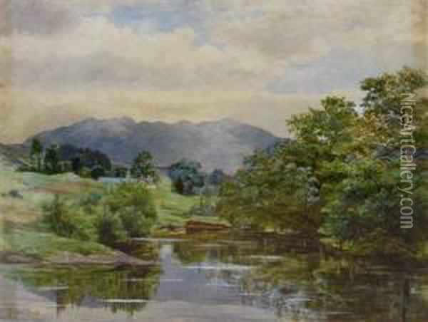 Hills In Dumfriesshire Oil Painting - James Jnr Faed