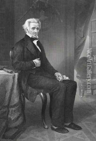Andrew Jackson (1767-1845) 7th President of the United States Oil Painting - Alonzo Chappel