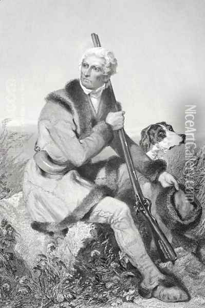 Portrait of Daniel Boone (1734-1820) Oil Painting - Alonzo Chappel