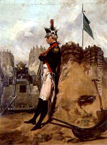 Alexander Hamilton (1757-1804) in the Uniform of the New York Artillery Oil Painting - Alonzo Chappel