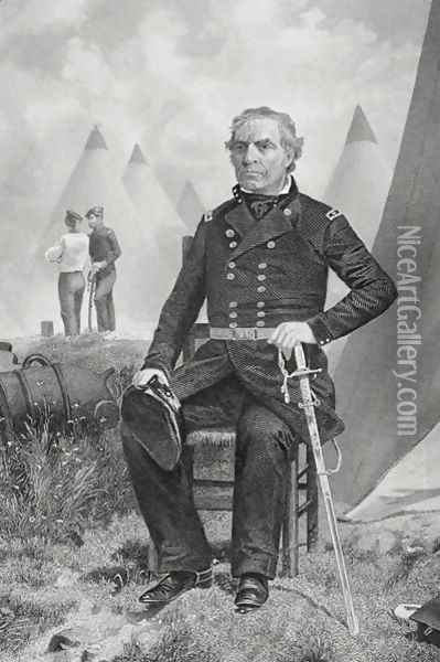 Portrait of Zachary Taylor Oil Painting - Alonzo Chappel