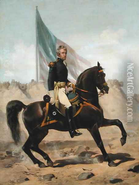 General Andrew Jackson at the Battle of New Orleans Oil Painting - Alonzo Chappel