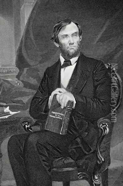 Portrait of Abraham Lincoln (1809-65) 2 Oil Painting - Alonzo Chappel