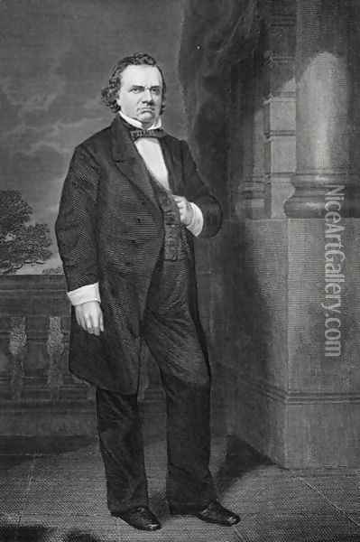 Portrait of Stephen Arnold Douglas (1813-61) Oil Painting - Alonzo Chappel