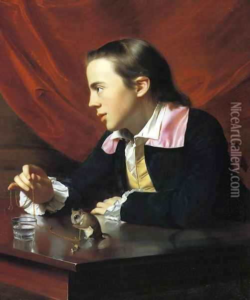 Boy with a Squirrel (or Henry Pelham) Oil Painting - John Singleton Copley