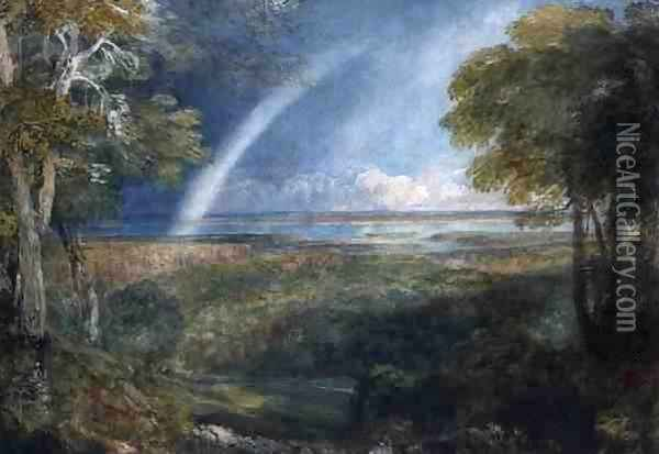 A Rainbow over the Severn Oil Painting - David Cox
