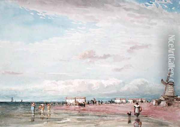 North Shore, Liverpool Oil Painting - David Cox