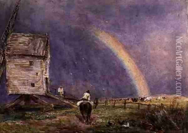 The Mill 1853 Oil Painting - David Cox