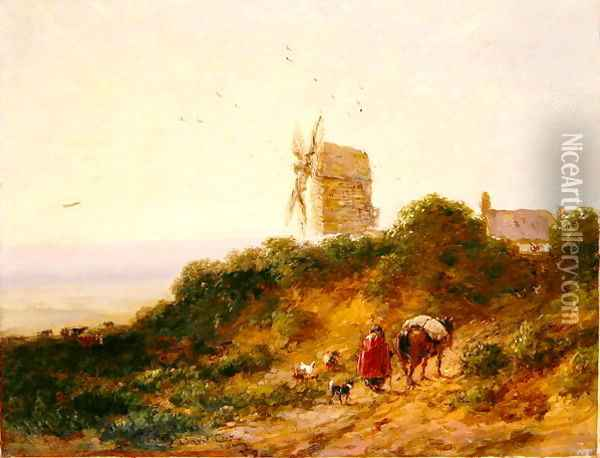 The Road to the Mill, 1849 Oil Painting - David Cox