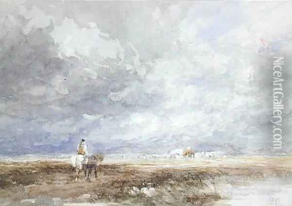 Going to the Hayfield, c.1855 Oil Painting - David Cox