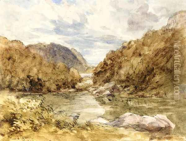 Pont-Y-Pair, near Bettwys-Y-Coed, North Wales Oil Painting - David Cox