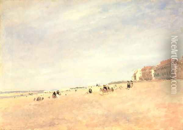 Rhyl Sands, c.1854 Oil Painting - David Cox