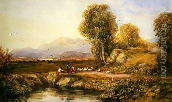 The Vale of Conwy Oil Painting - David Cox