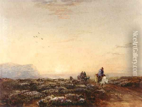 Great Orme Head from the Mouth of the Conwy, North Wales Oil Painting - David Cox