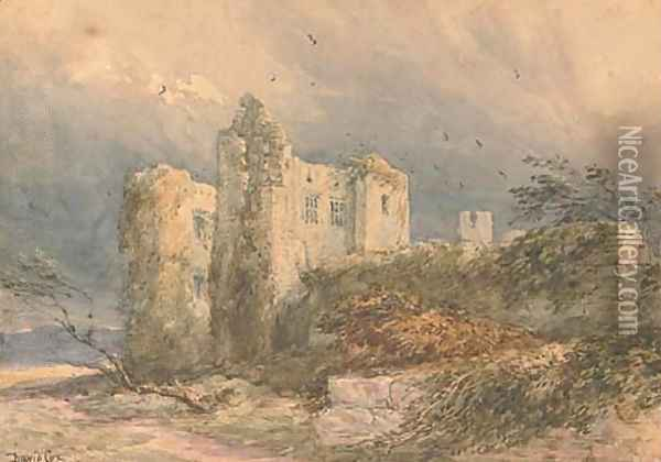 Kenilworth Castle, a blustery day Oil Painting - David Cox