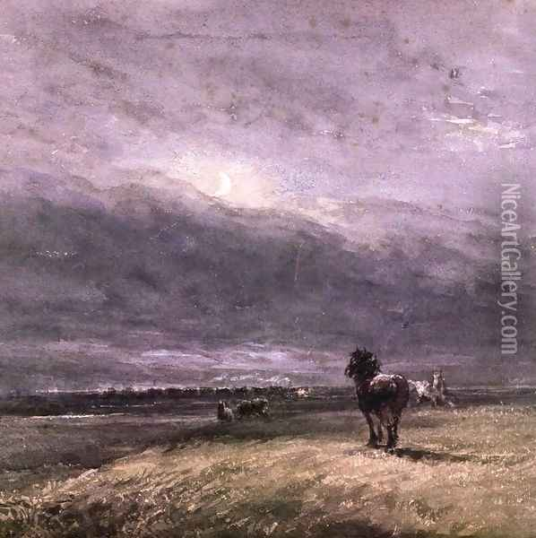The Night Train Oil Painting - David Cox