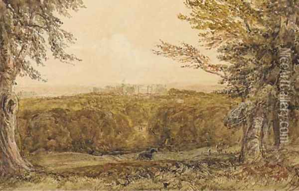 Windsor Castle from the Great Park Oil Painting - David Cox