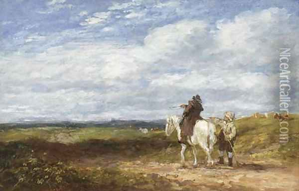 Asking The Way Oil Painting - David Cox