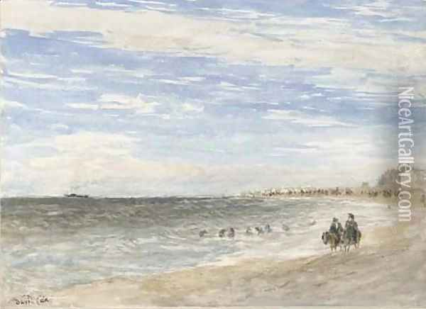 Rhyl Sands 2 Oil Painting - David Cox
