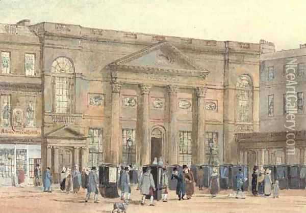 The Pump Room, Bath Oil Painting - David Cox