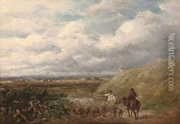 Changing pastures Oil Painting - David Cox