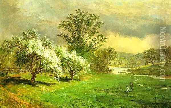 Apple Blossom time Oil Painting - Jasper Francis Cropsey