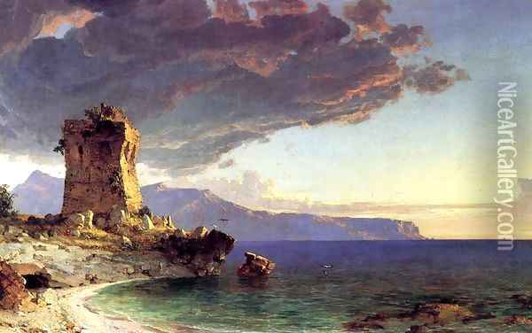 The Isle of Capri Oil Painting - Jasper Francis Cropsey