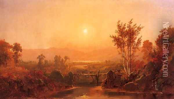 Autumn Light on the Ramapo River Oil Painting - Jasper Francis Cropsey