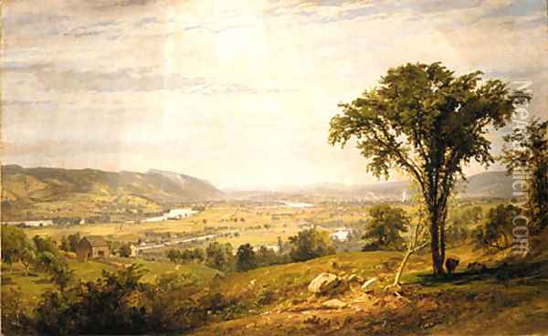 Wyoming Valley, Pennsylvania Oil Painting - Jasper Francis Cropsey