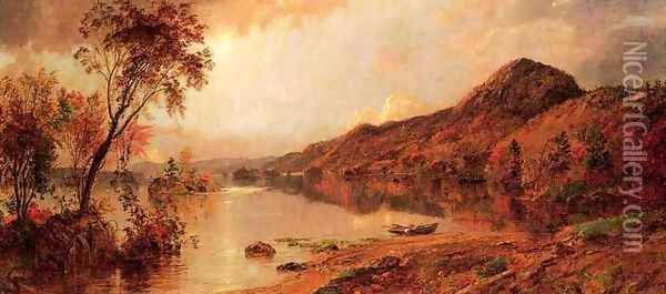 Autumn by the Lake Oil Painting - Jasper Francis Cropsey