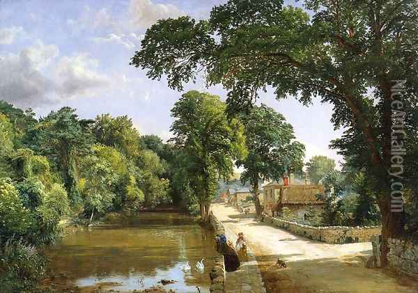 Bonchurch, Isle of Wight Oil Painting - Jasper Francis Cropsey