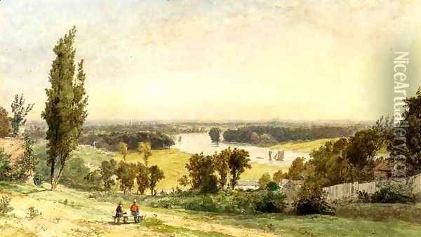 Richmond Hill in 1862 Oil Painting - Jasper Francis Cropsey