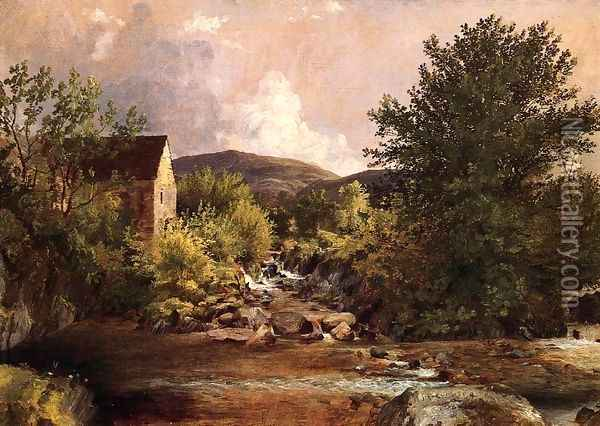 The Old Mill Oil Painting - Jasper Francis Cropsey