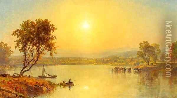 On the Susquahana River Oil Painting - Jasper Francis Cropsey