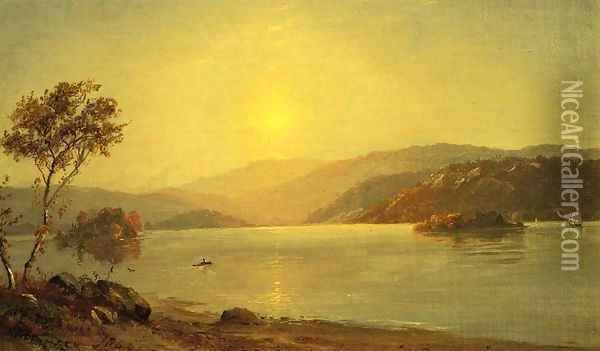 Autumn by the Lake I Oil Painting - Jasper Francis Cropsey
