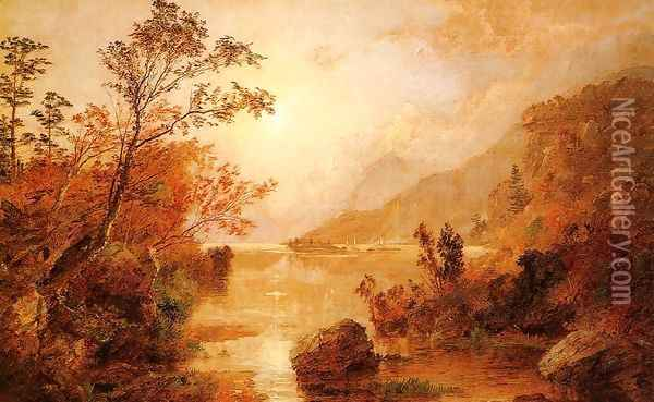 Autumn in the Highlands of the Hudson Oil Painting - Jasper Francis Cropsey